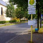 Bushaltestelle aus Richtung Berlin-Hermsdorf