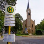 Bushaltestelle in Richtung Berlin-Hermsdorf